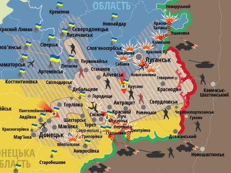 Карта ситуації на Донбасі