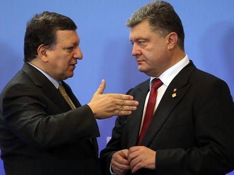 Баррозу и Порошенко