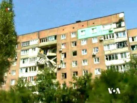 Обстрелянные дома