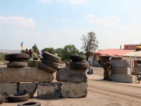 Блокпост в Углегорске
