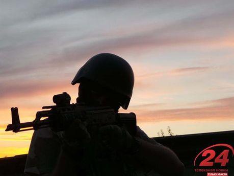 Украинские военные обстреляли террористов