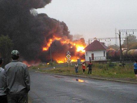 Пожар на железной дороге