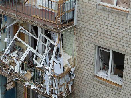Дом после обстрела