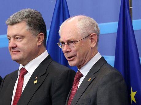 Порошенко и Ван Ромпей