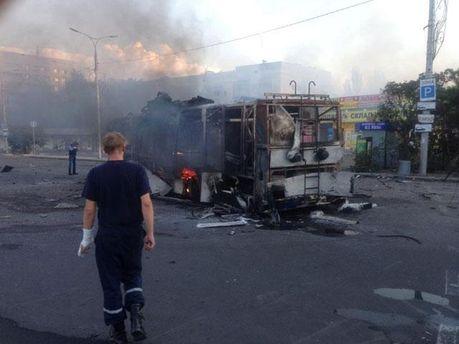 У Донецьку горить вокзал