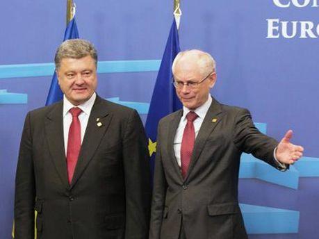 Петро Порошенко та Герман Ван Ромпей