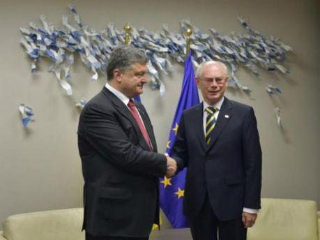 Петр Порошенко и Герман Ван Ромпёй