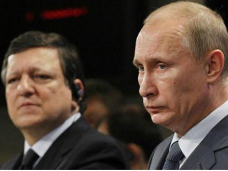 Володимир Путін та Жозе Мануел Баррозу