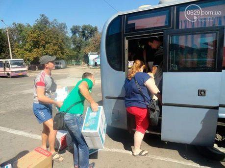 Переселенцы возвращаются из Мариуполя в Донецк