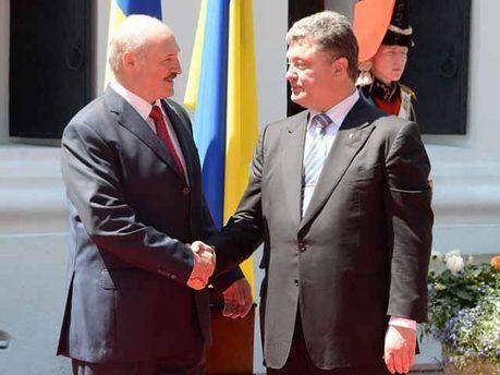 Петро Порошенко і Олександр Лукашенко