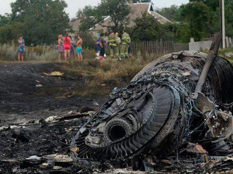 Место падения Boeing777