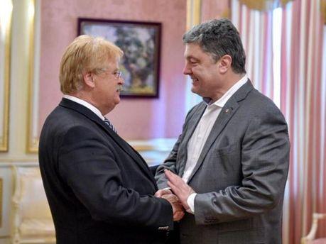 Элмар Брок и Петр Порошенко