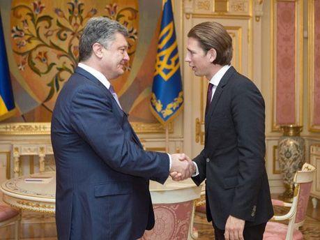 Петр Порошенко и Себастьян Курц
