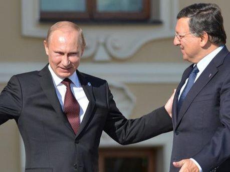 Путин и Баррозу