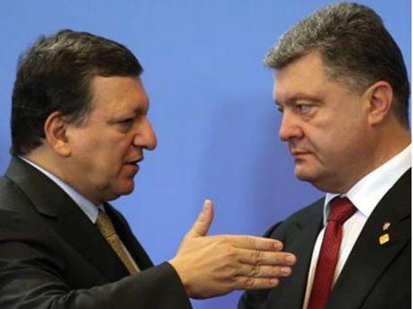 Жозе Мануэль Баррозу и Петр Порошенко