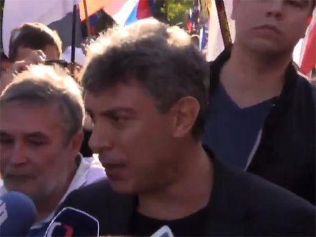 Борис Немцов на Марше мира