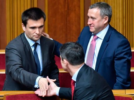 Павло Клімкін та Андрій Дещиця