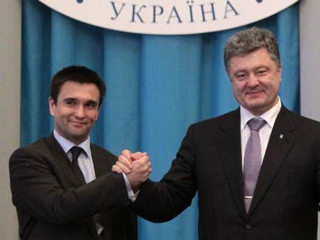 Павло Клімкін та Петро Порошенко