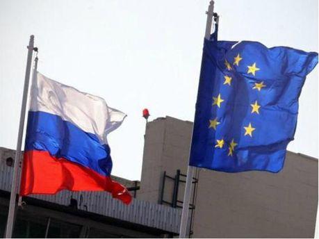 Флаг ЕС и России