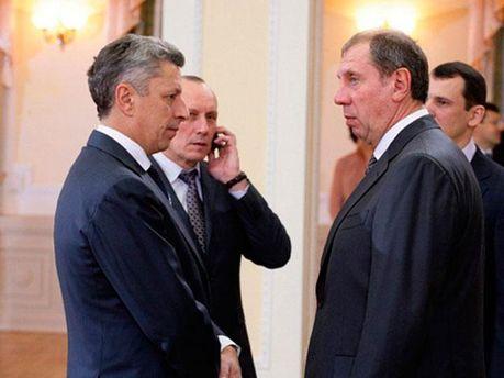 Зліва — Юрій Бойко і Євген Бакулін