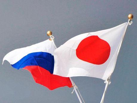 Флаги РФ и Японии