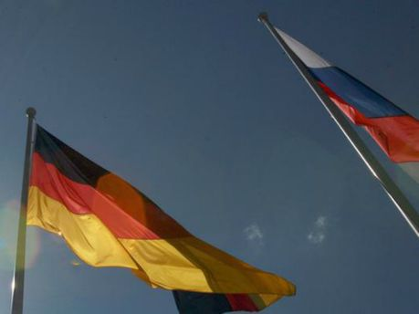Прапор Німеччини і Росії