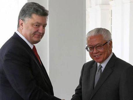 Президенты Украины и Сингапура