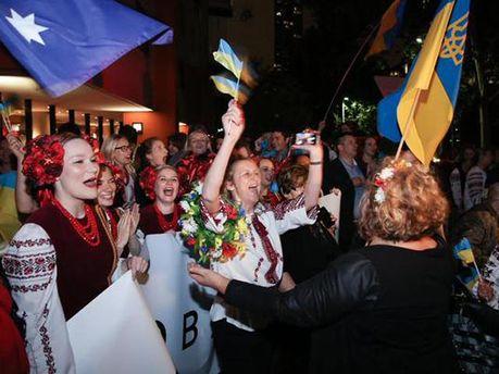 Українці Австралії зустрічають Порошенка