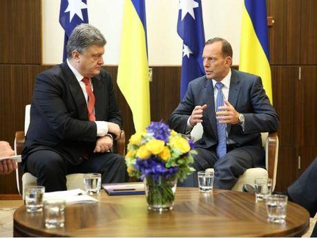 Петро Порошенко з прем'єр-міністром Австралії Тоні Ебботом