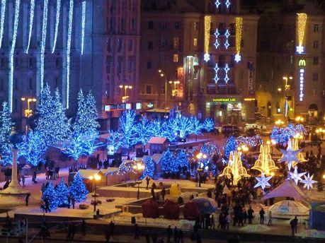 Новогодние праздники в Киеве