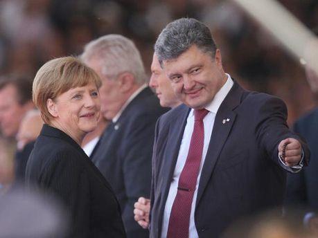 А. Меркель і П. Порошенко
