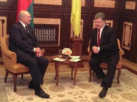 А. Лукашенко и П. Порошенко