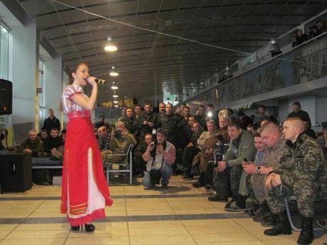 Концерт для военных в зоне АТО