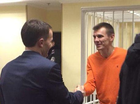 Сергій Коба у залі суду