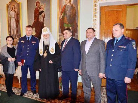 Патріарх Філарет з київськими міліціонерами