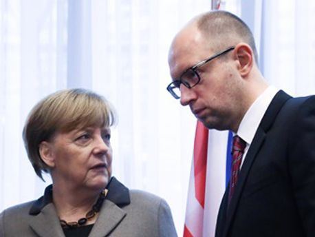 Ангела Меркель и Арсений Яценюк
