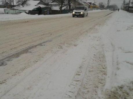 Дороги в снегу