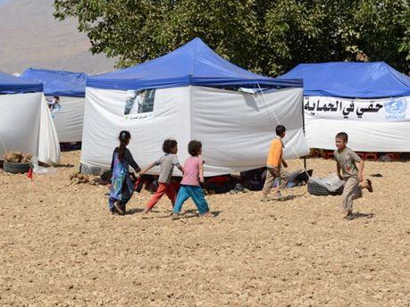 Лагерь сирийских беженцев в Ливане