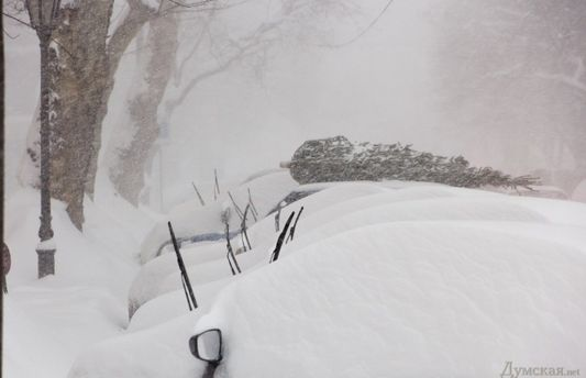 Снігопад в Одесі