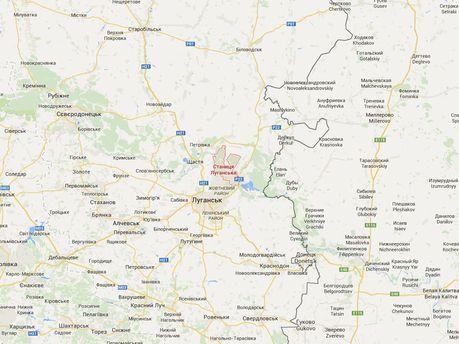 Станиця Луганська на мапі