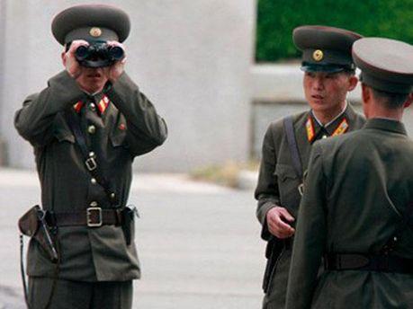 Пограничники КНДР