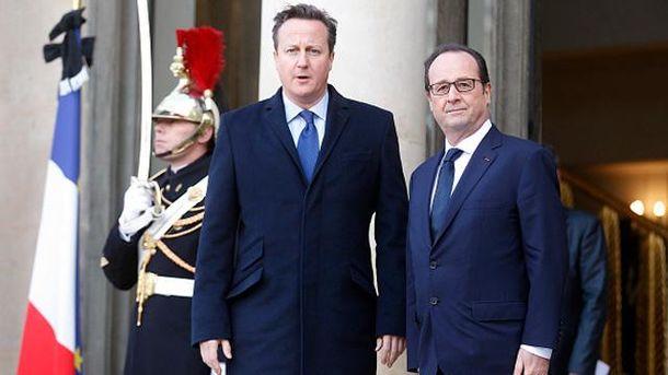 Девід Кемерон і Франсуа Олланд