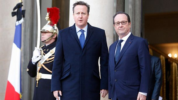 Дэвид Кэмерон и Франсуа Олланд
