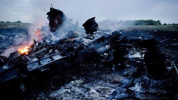 На месте катастрофы МН17
