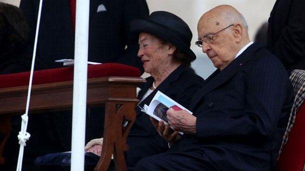 Джорджо Наполитано с женой