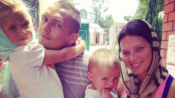 Александр Усик с семьей