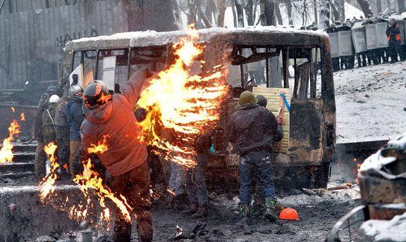 Бои на Грушевского
