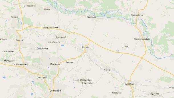 Новотошковское на карте