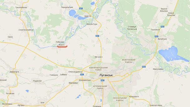 Село Желтое на карте