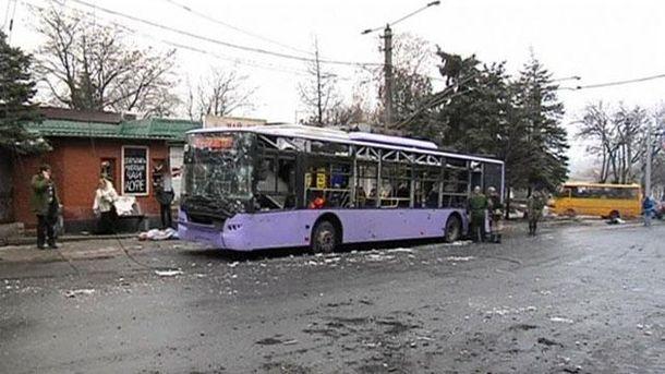 Обстріл зупинки в Донецьку